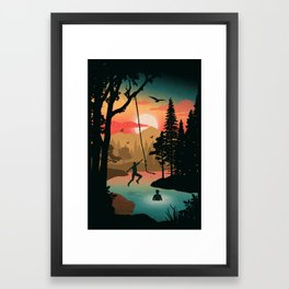 Swing Away Framed Art Print