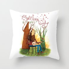Flightless Bird Throw Pillow