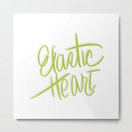 Elastic Heart Metal Print