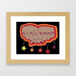 Girl Gang Star Fists Feminist Design Framed Art Print