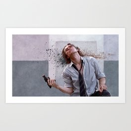 Detective Smecker From The Boondock Saints - There Was a Fire Fight Art Print