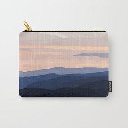 Pastel Sunset Over the Mountains Carry-All Pouch