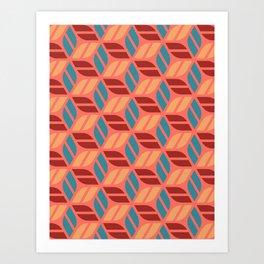 Cheerful Geo Pattern 2 Art Print