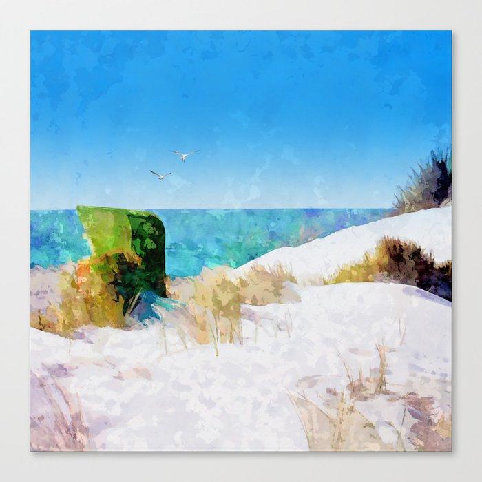 near the ocean Canvas Print