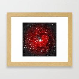 Black Hole Background Framed Art Print