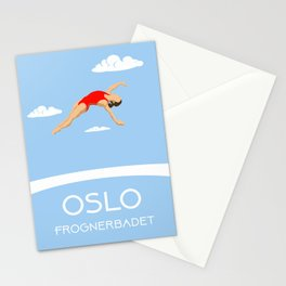 Oslo Frognerbadet II Stationery Cards