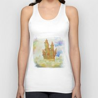 castle in the sky Tank Tops featuring castle in the sky by Ancello