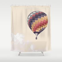 balloon Shower Curtains featuring Balloon by Dara Denney