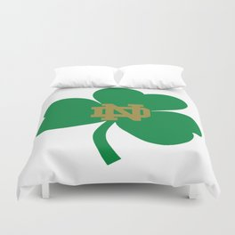 The Irish Clover in Green Duvet Cover
