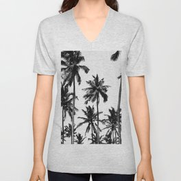 Palms, Tropical, Nature, Scandinavian, Minimal, Trendy decor, Interior, Wall art Unisex V-Neck