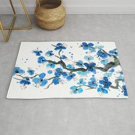 Blue Japanese Blossoms Rug