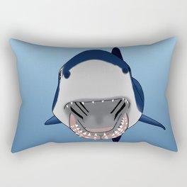Shark Selfie Say Cheese Rectangular Pillow