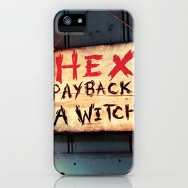Payback's a witch! iPhone Case