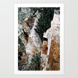 Rock Face Near Windamere Dam Art Print