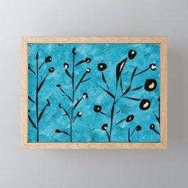 Dusk gardens Framed Mini Art Print