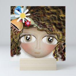 Art Doll - Kids Decor - Cat Winter snowing Mini Art Print