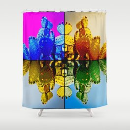 Nopal Pop Shower Curtain