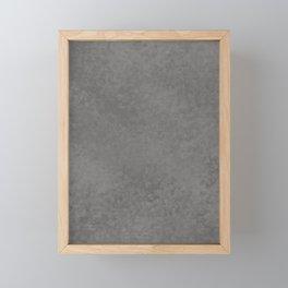 Pantone Pewter, Liquid Hues, Abstract Fluid Art Design Framed Mini Art Print