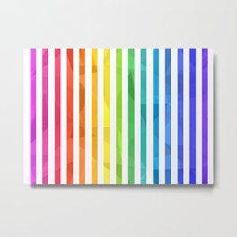 RAINBOW + WHITE Metal Print
