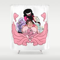 steven universe Shower Curtains featuring Steven Universe by Madoca