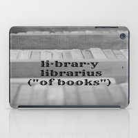 library iPad Cases featuring Library by KimberosePhotography