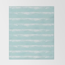 Irregular Stripes Mint Throw Blanket