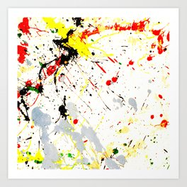 Paint Splatter Art Print