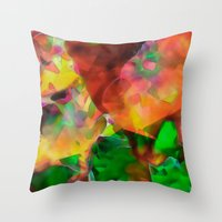 chaos Throw Pillows featuring Chaos by Ray Cowie