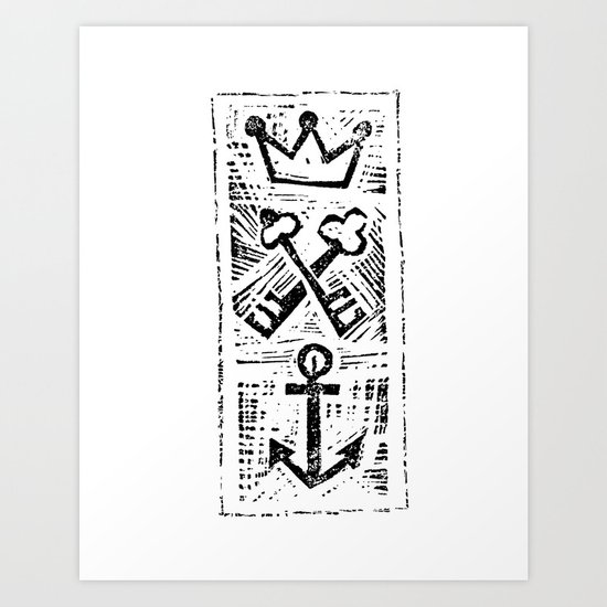 Crown Key & Anchor Art Print
