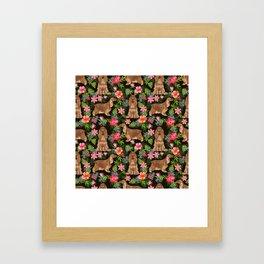 Cocker Spaniel hawaiian tropical print with dog breeds cocker spaniels Framed Art Print