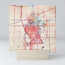 Salina map Kansas KS Mini Art Print