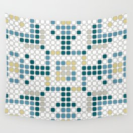 Contemporary Flower Tile Pattern Wall Tapestry