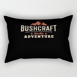 Live The Adventure - Bushcraft Survival Rectangular Pillow