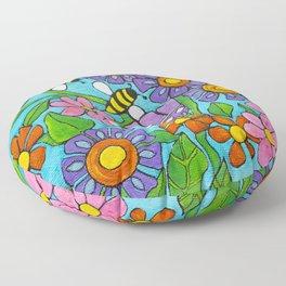 Springtime Series #4 Bee's Floor Pillow