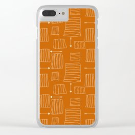 Tribal Arrows and Squares, Primitive Pattern Clear iPhone Case