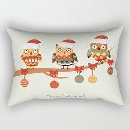 Owl christmas tree Rectangular Pillow