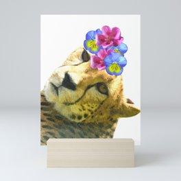 Cute Cheetah Portrait Mini Art Print