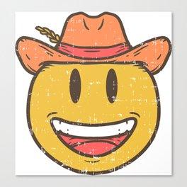 Cowboy Rancher cattleman  Smiley Gift Canvas Print