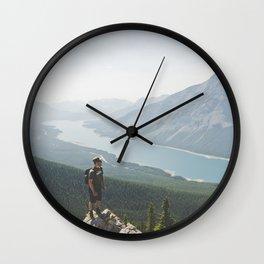 Spray Lakes Wall Clock