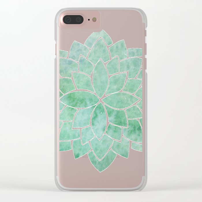 Eton Blue Mandala Clear iPhone Case