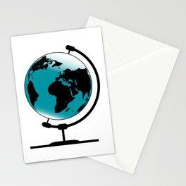Mounted Globe On Rotating Swivel Stationery Cards
