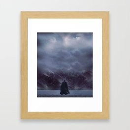 Gazing up into the sky Framed Art Print