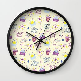 Just Love - Valentine's Day pattern Wall Clock