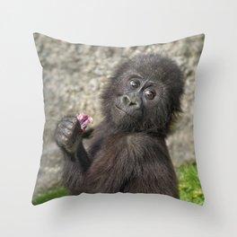 Cute Baby Gorilla Throw Pillow