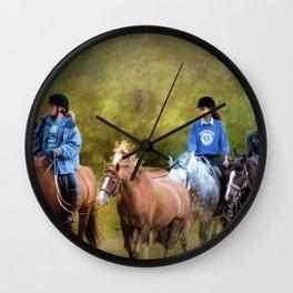 Riding School Wall Clock
