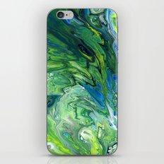 Green Blue Lava Wave iPhone & iPod Skin