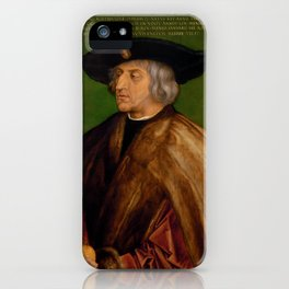 "Albrecht Dürer ""Portrait of Maximilian I"" iPhone Case"