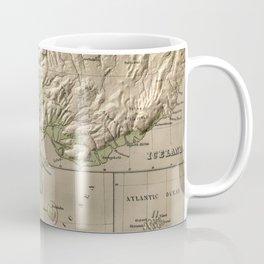 Vintage Iceland and Denmark Physical Map (1880) Coffee Mug