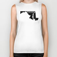 maryland Biker Tanks featuring Maryland by Isabel Moreno-Garcia