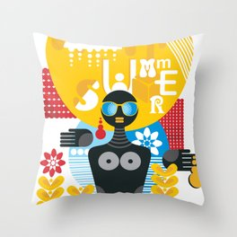 Summer. Throw Pillow